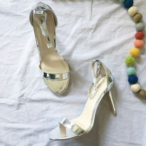 ASOS Glamorous Silver Mirror Barely There Heels 9